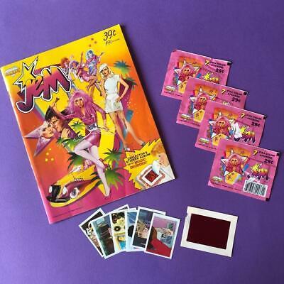 Rare Vintage Jem & The Holograms Doll Sticker Album & Stickers Set 1980s