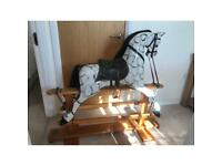 Bespoke made wooden Rocking Horse