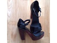 Prada Wooden Wedge Sandals (UK 6.5) size 39.5 Stunning and Genuine