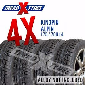4 x New 175/70R14 Kingpin Alpin Tyre - 175 70 14 - Fitting Available