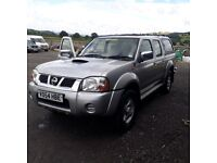 breaking silver nissan navara d22 double cab good engine parts spares
