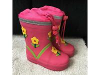 Wellie boots with fleece lining size 5 infant
