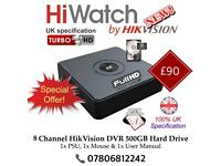 Hikvision 8 Channel 1080P Full Turbo-HD TVI Cube DVR 500GB - LATEST 2017