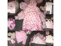 Baby girl clothes never worn!! Cheap