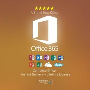 2019 Microsoft Office Pro+, Office 365 and Windows 7, 8, 8.1, 10 Lifetime 5TB Onedrive + 100% Customer Satisfaction