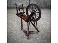 Attractive Antique Victorian Saxony Style Spinning Wheel