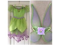 Tinkerbell Costume age 5-6 & Wings (Disney store)