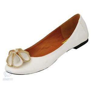 AU-Sz-White-Round-Toe-Ballet-Flat-Heel-Sexy-Zipper-Flower-Pattern-Leather-Shoes