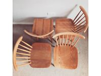 X4 vintage dining chairs