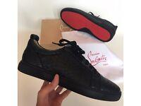 Christian Louboutin Red Bottom Sneakers Flat Calf Low UK3-11