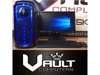 Brand New Gaming PC Quad Core 8GB Ram 128GB SSD Win 10 Minecraft CSGO WOW GTA XMAS
