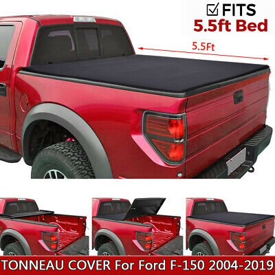 For 2004-2019 Ford F-150 5.5ft Short Bed Soft Tri-Fold Tonneau Cover Clamp-On US