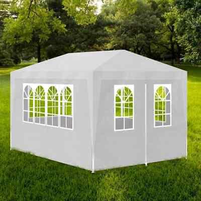vidaXL Party Tent 3x4m with 4 Walls White Patio Garden Gazebo Marquee Pavilion