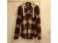 Superdry Lumberjack button jacket original hooded flannel - Size medium