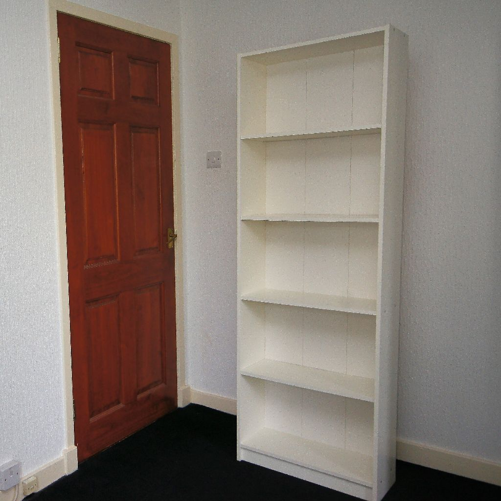 White 5 Shelf Bookcase