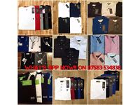 Ralph Lauren Polo's, Stone Island, Fred Perry, Hugo Boss
