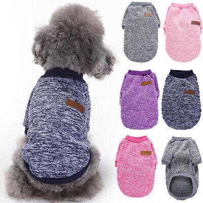 Small Dog Winter Warm Fleece Coat Clothes Puppy Sweater Jumper Jacket Apparel US Fleece Dog Coat