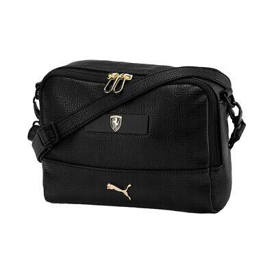 Puma Scuderia Ferrari Lifestyle Womens Mini Handbag Black Gold 076680 01