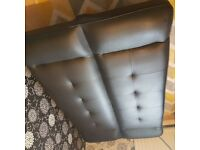 Sofa bed faux leather