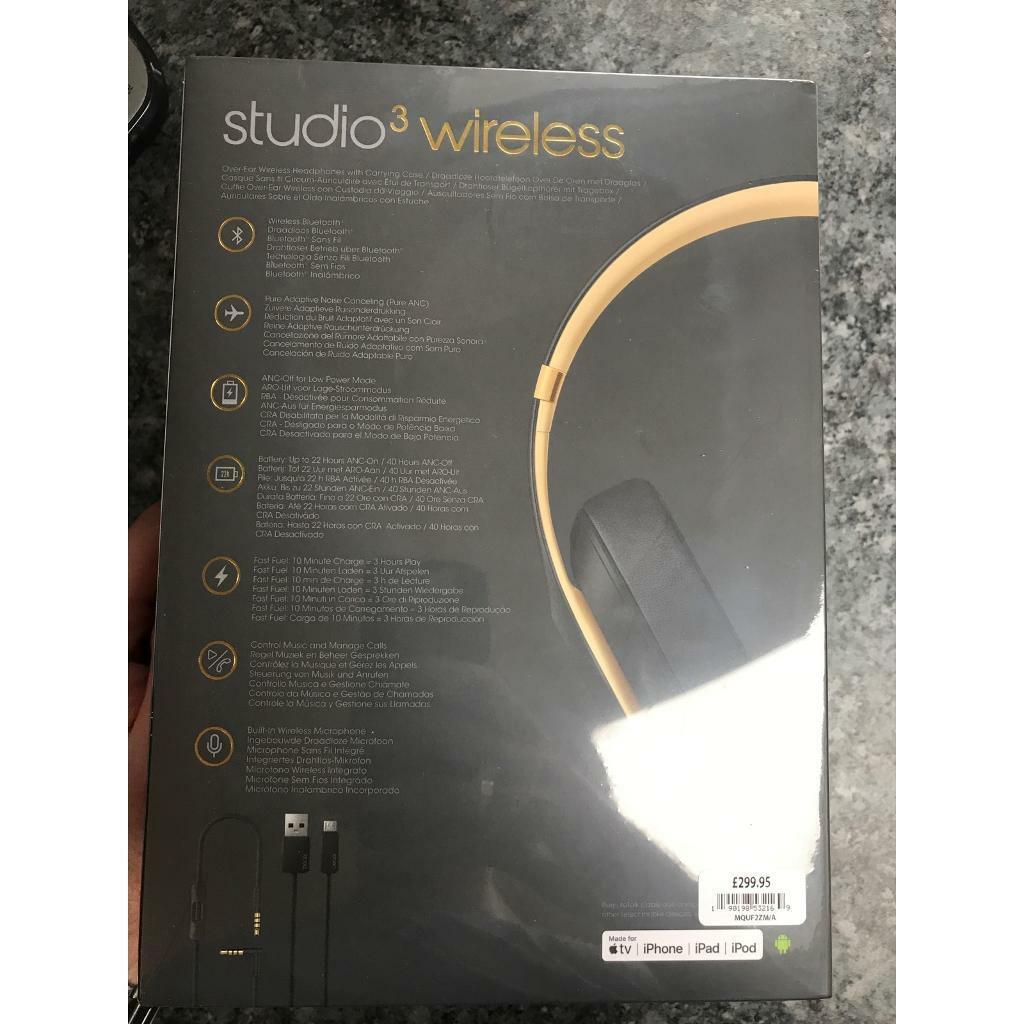 Beats Studio 3 Wireless Headphones | in Great Baddow, Essex | Gumtree