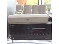 sony AV receiver with subwoofer and speakers