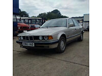 Left hand drive BMW 735 I SE petrol. Manual gearbox. Air conditioning.