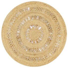 Handmade Rug Braided Jute 90 cm-133707