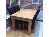 Dining Room Table and chairs -Modern styling, excellent condition