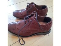 Boys River Island size 12 brown leather brogues