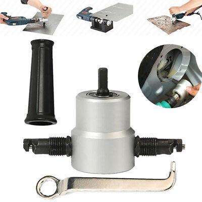 2-head Sheet Nibbler Metal Power Cutter Saw Drill Bits Cutting Tool Yt-160a
