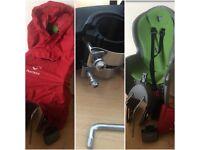 Hamax child's bike seat & poncho