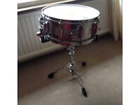 Rogers R-380 snare drum and precision stand 6.5x 14