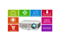 BRAND NEW,1080P Android HDMI Home Theater LED Projector With WIFI RCA VGA USB TV