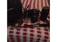 Canon 1200D Digital SLR Camera with additional lens PERFECT FIRST CAMERA