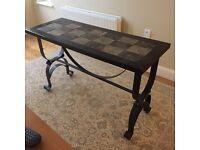 Dark hall table sideboard