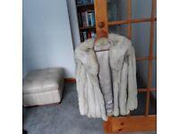 Blue fox fur coat ladies medium