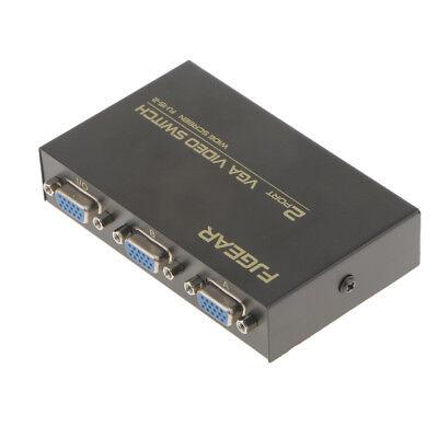 2-Port VGA Switch Video Splitter Switcher Box for Laptop Desktop Computer