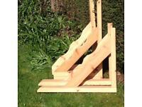 Timber gallows brackets