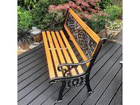 """Garden Bench Refurbished """"Thistle"""" Design."""