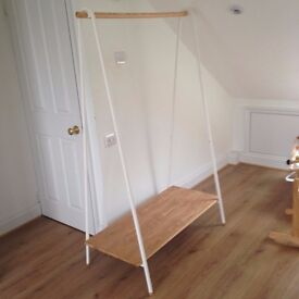 John Lewis White Clothes Rail - Perfect Condition - Collection Only