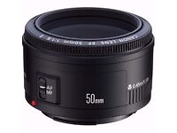 Canon EF 50 mm f/1.8 II Lens with UV filter