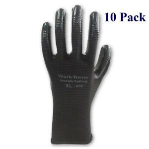 Bulk Work Gloves - Nitrile Coated - Sold By 10 Pack, Case and Pallet - Up to 33% off