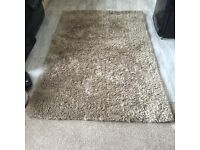 120x180 Taupe LARGE DEEP PILE Sumptuous RUG