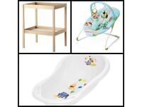 Baby Change Table, Baby Bath & Bouncer