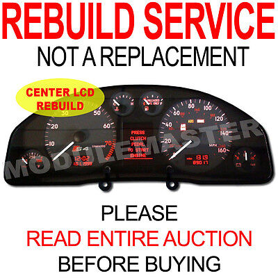 00 01 02 03 04  Audi A4 A6 S4 S6 Instrument Cluster NEW CENTER LCD REBUILD