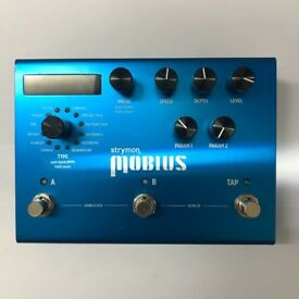 Strymon Mobius Guitar Modulation Effects Pedal (Chorus, Phaser, Flanger and more), v good condition.