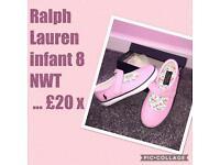 Ralph Lauren infant 8 pumps NWT ❤️
