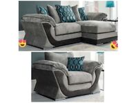 EXPRESS FREE DELIVERY BRAND NEW HALO CHAISE CORNER SOFA(EXTRA CHAIR)