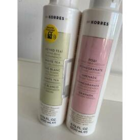 Korres Pomegrante Tonic lotion and White Tea Cleanser