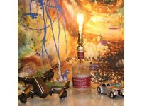Negroni Special - Handmade Bottle Lamp With Bulb